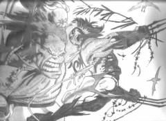 Wallpapers Art - Pencil wolverine vs hulk