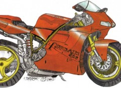 Wallpapers Art - Pencil Ducati 916.