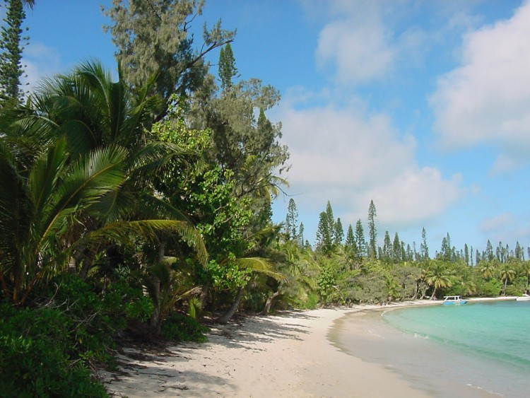 Wallpapers Trips : Oceania New Caledonia Ile des Pins, baie de Kanumera