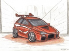 Wallpapers Art - Pencil tunning car.