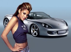 Wallpapers Cars Carerra GT & Eva mendes
