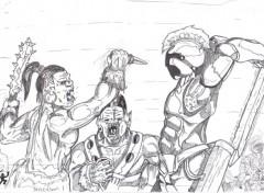 Fonds d'écran Art - Crayon Bataille contre les Orcs