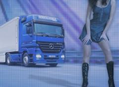 Fonds d'écran Transports divers camion bleu