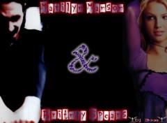 Fonds d'�cran Musique marilyn & Britney
