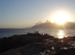Wallpapers Trips : South America Ipanema Sunset II