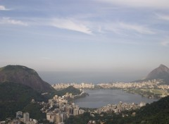 Wallpapers Trips : South America Brazil View of Lagoon in Rio