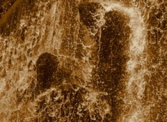 Fonds d'écran Nature cascade doré