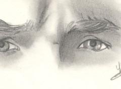 Fonds d'écran Art - Crayon Les yeux d'acteur