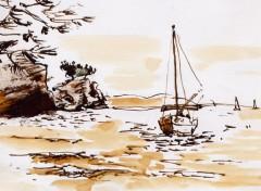 Fonds d'écran Art - Peinture La mer