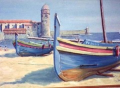 Fonds d'écran Art - Peinture Vieilles barques