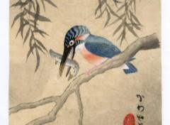 Fonds d'écran Art - Peinture martin-pêcheur