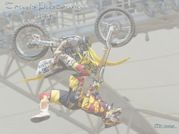 Fonds d'écran Motos Motocross Travis Backflip