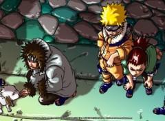 Wallpapers Dual Screen Naruto - Shikamaru team - dualscreen