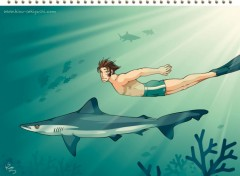 Fonds d'écran Manga Le Requin