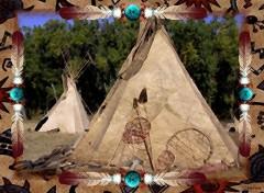 Fonds d'écran Art - Numérique Lakota Tepee