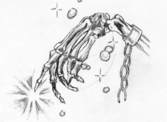 Fonds d'écran Art - Crayon Main squeletique