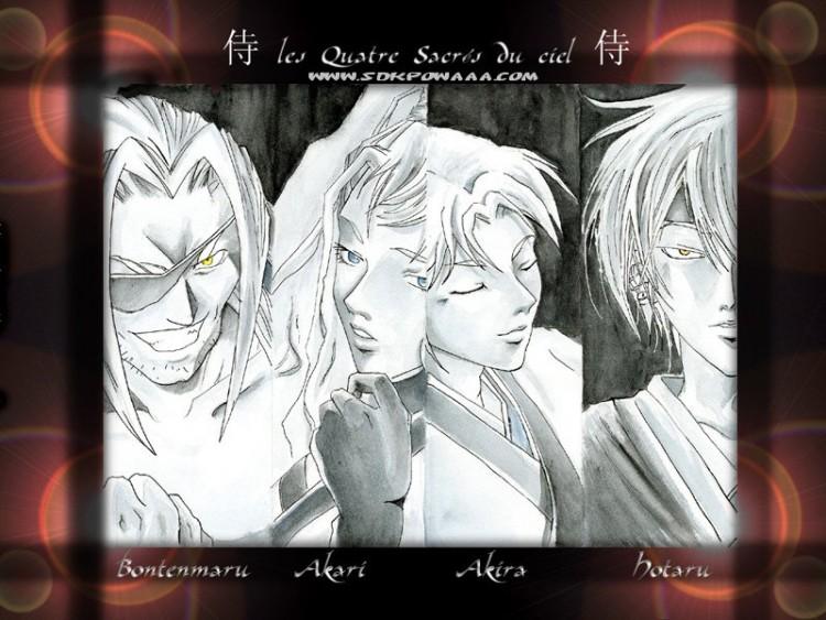 samurai deeper kyo wallpaper. Wallpapers Manga gt; Wallpapers Samurai Deeper Kyo Les 4 sacrés du ciel by - Hebus.com