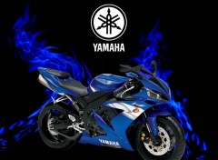 Wallpapers Motorbikes yamaha r1 fire bleu