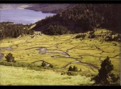 Fonds d'écran Nature Méandres dans les Pyrénées