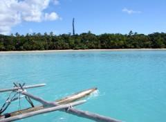 Fonds d'écran Voyages : Océanie sur une pirogue dans la baie d'Upi