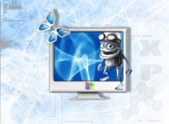 Fonds d'écran Informatique grazy frog XP :)