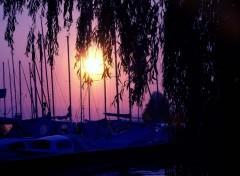 Wallpapers Boats coucher de soleil