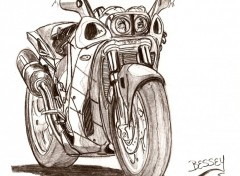 Wallpapers Art - Pencil moto modifié