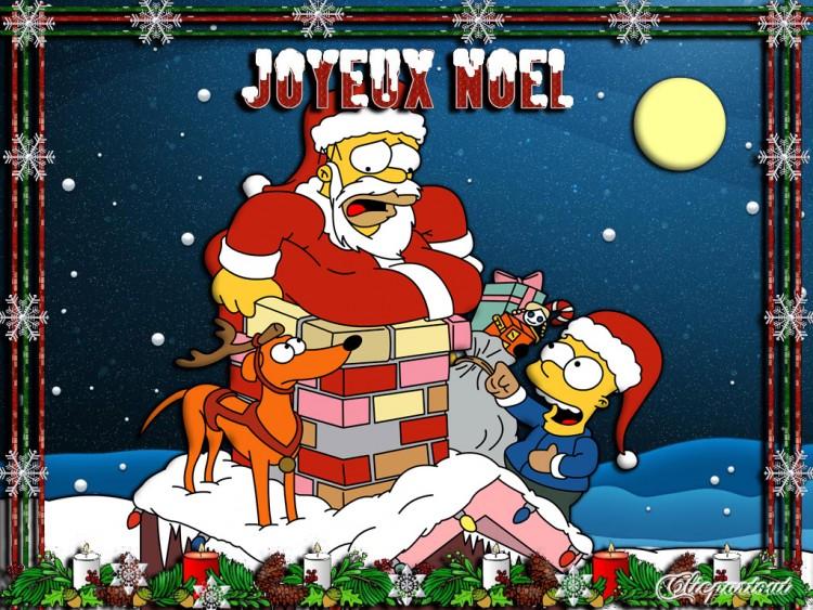 Fonds d'écran Dessins Animés Les Simpsons Joyeux Noël