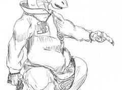 Fonds d'écran Art - Crayon dragon lascar