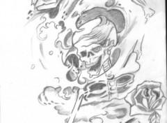 Fonds d'�cran Art - Crayon danse macabre