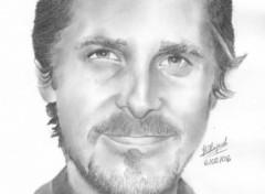 Fonds d'écran Art - Crayon Christian Bale