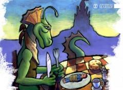 Fonds d'écran Art - Numérique Le dragon dîne avec Denis
