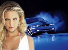 Wallpapers Cars mustang et kathrine heigle