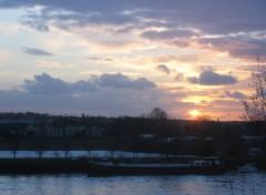 Fonds d'écran Nature Coucher de soleil sur seine!!