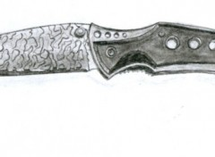 Fonds d'écran Art - Crayon couteau à cran d'arret