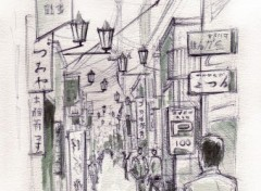Wallpapers Art - Painting Ruelle Iidabashi