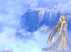 Fonds d'écran Fantasy et Science Fiction fée nuages