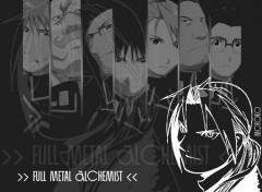 Fonds d'écran Manga FMA noir&blanc