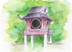Fonds d'écran Art - Peinture Temple de la litteraturre