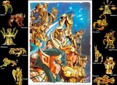 Fonds d'écran Manga les 12 chevaliers d'or