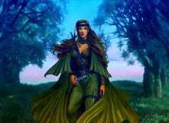 Fonds d'écran Fantasy et Science Fiction Guerrière elfe