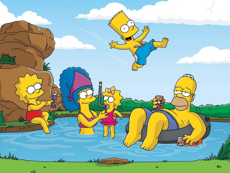 Fonds d'écran Dessins Animés Les Simpsons Les Simpso,s En Vacances!