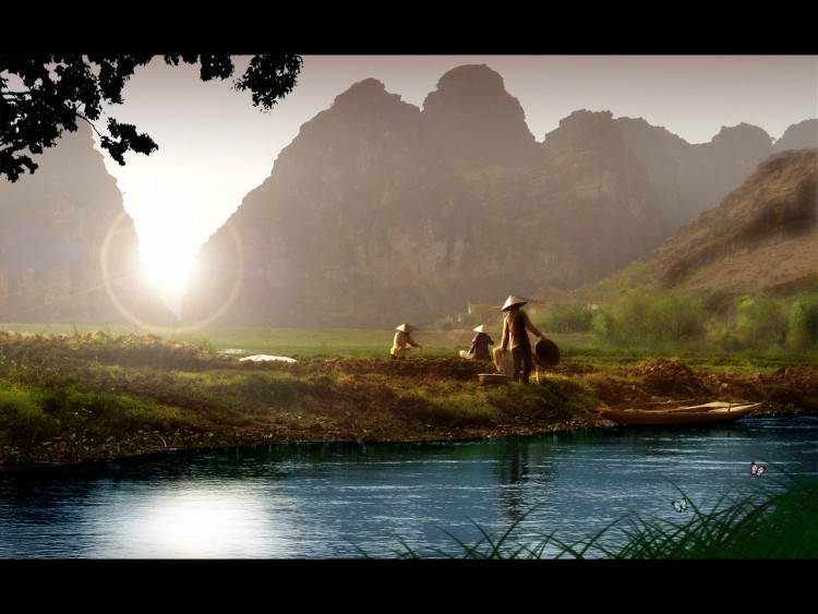 Fonds d'écran Voyages : Asie Vietnam Sérénité