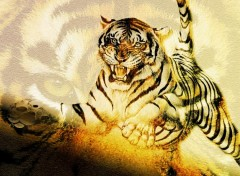Wallpapers Animals Tigre féroce ...