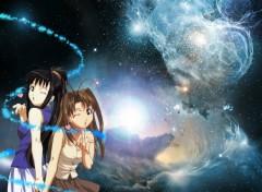Fonds d'écran Manga Naru et Motoko dans les étoiles
