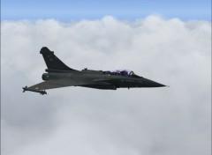 Fonds d'écran Avions Rafale C sous FS 2004