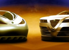 Wallpapers Dual Screen Alfa Spix flying concept car (3840*1440)