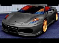 Fonds d'écran Voitures Ferrari noir tuning