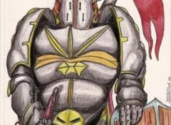 Fonds d'écran Art - Crayon Seigneur de guerre