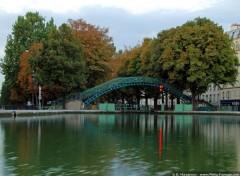 Fonds d'écran Voyages : Europe Couleurs d'automne sur le Canal St Martin